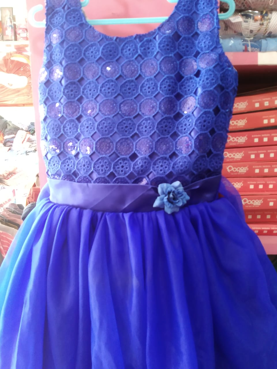 Net With Sequins Work Girls frock