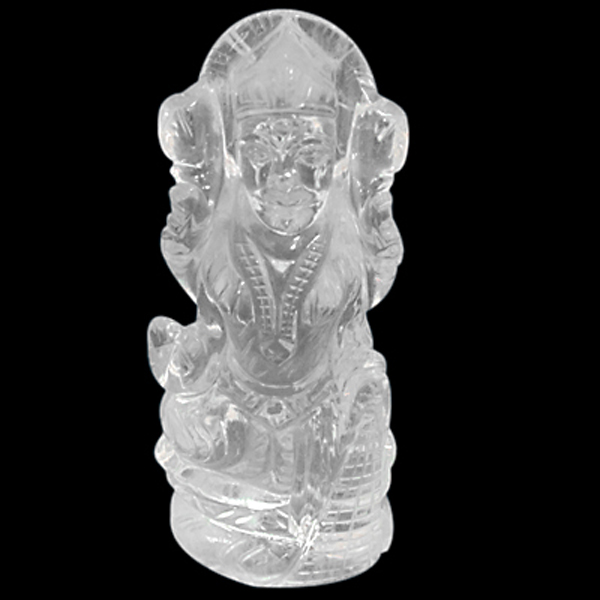 Hindu Goddess Laxmi Idol Carved Top Quality Clear Quartz Crystal Wealth Goddess Deity