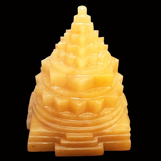 Yellow Aventurine Gemstone Sri Yantra