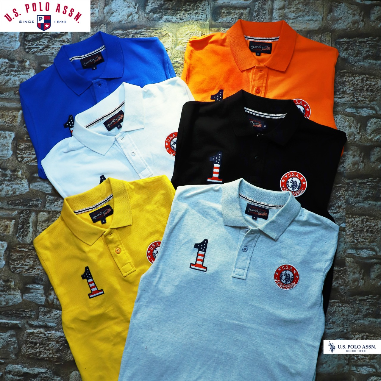 U S POLO T-Shirts Cotton Matte Fabric
