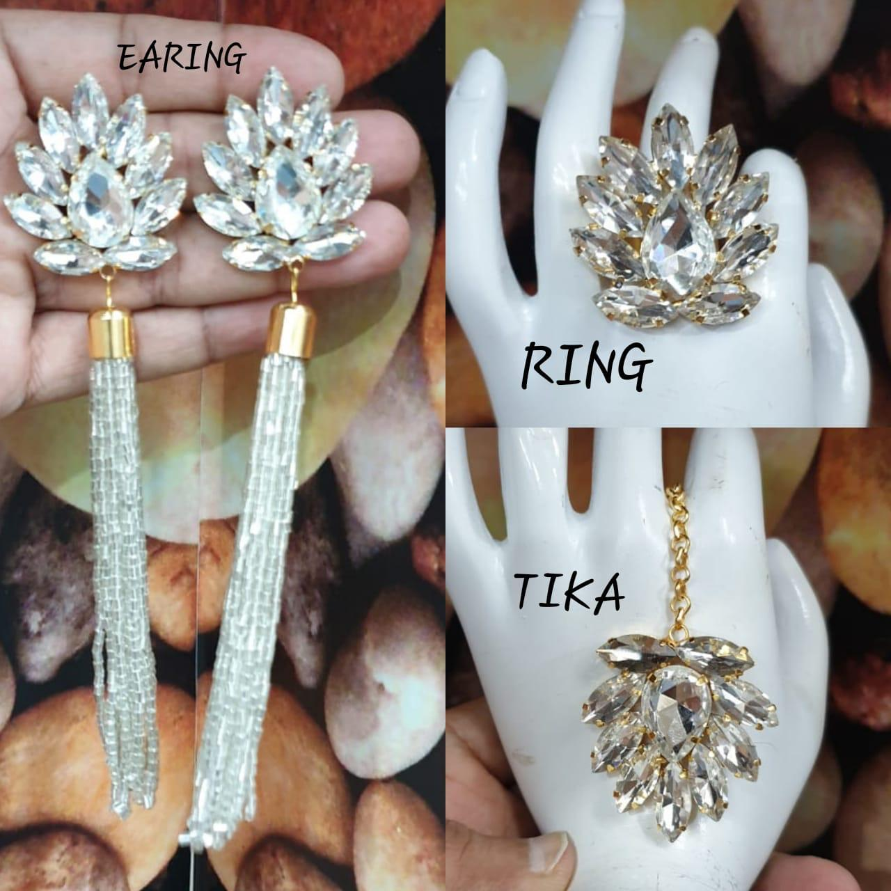 Combos of Ring, Mang Tikka, Earrings For Women