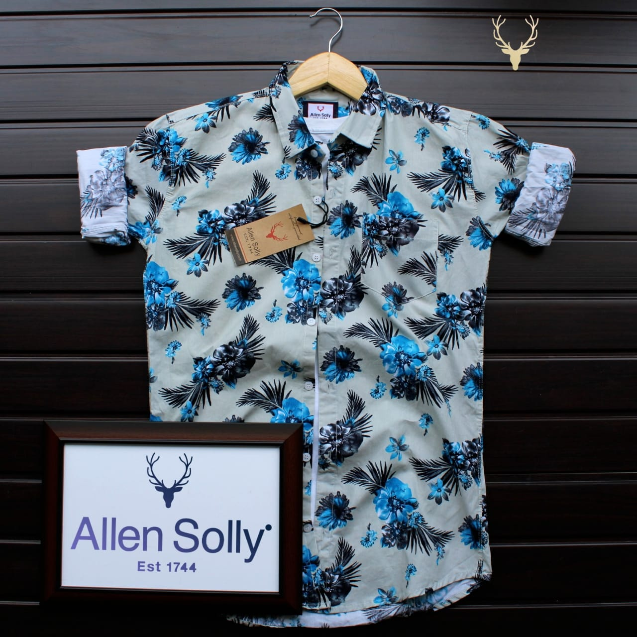 Floral Print Full Sleeves Allen Solly Shirts For Men