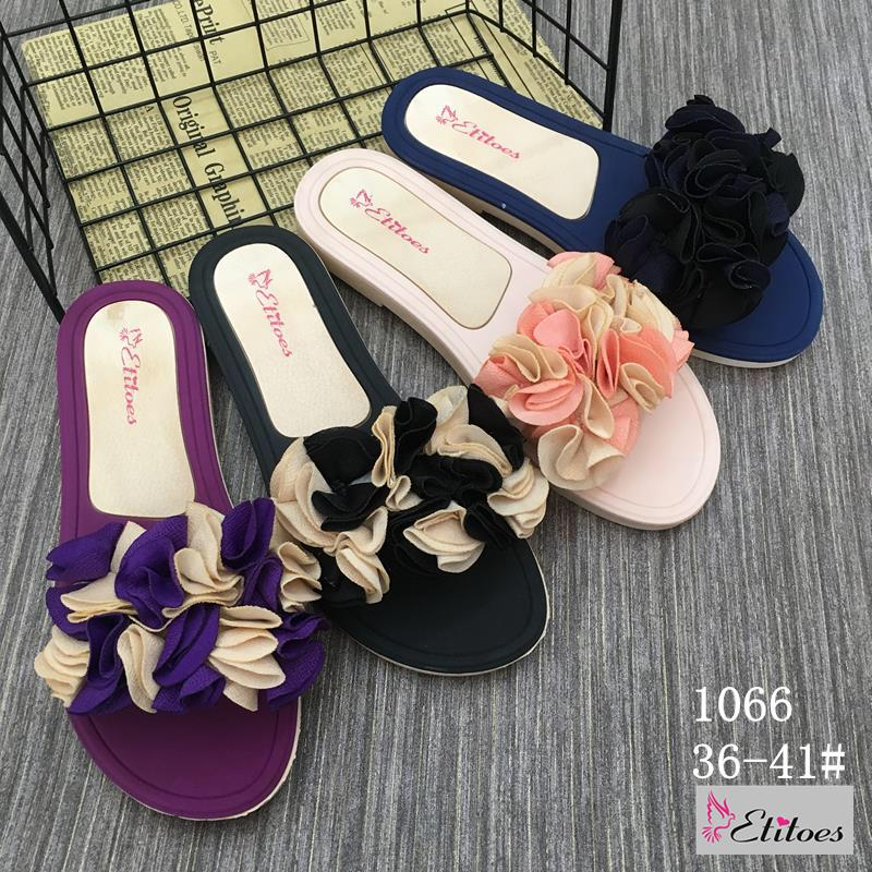 Ribbon Flora Style Ladies Soft Slippers for Women