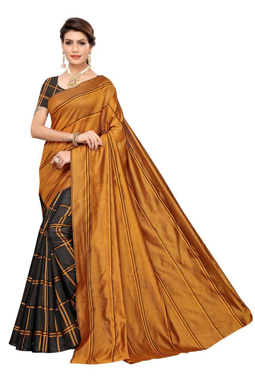 PAYAL Full Length Cotton Silk Saree With Running Blouse