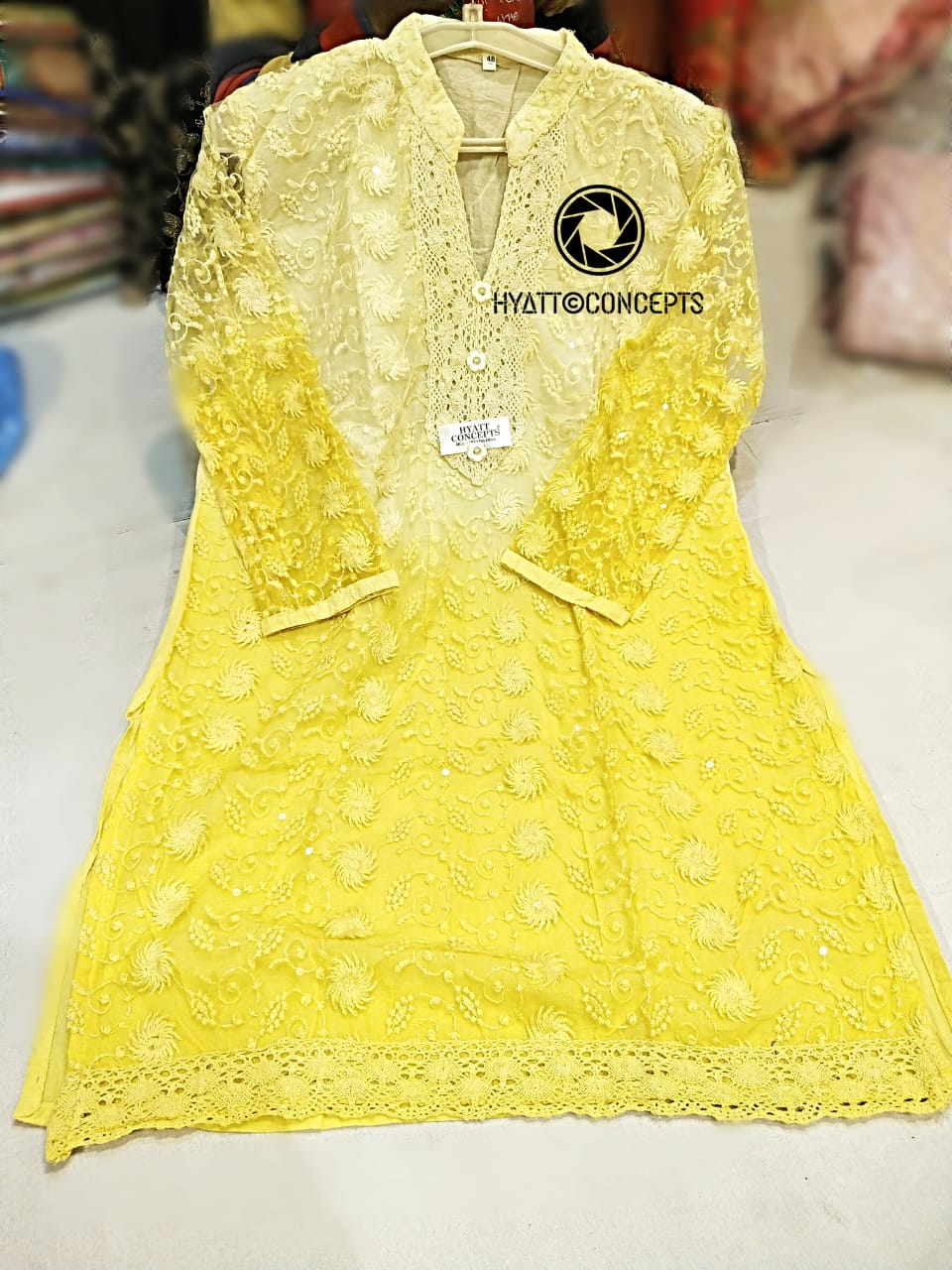 Pure Cotton Chickankari Work in Dress With Dupatta