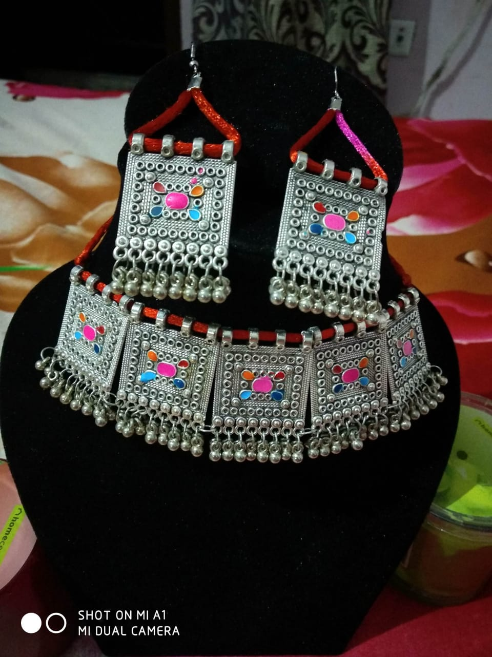 Stylist Traditional Necklace With Earrings Designer Jewellery