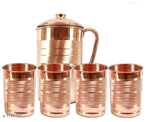 Traditional Elite Copper Glass & Jug for Home & Kitchen Utilities