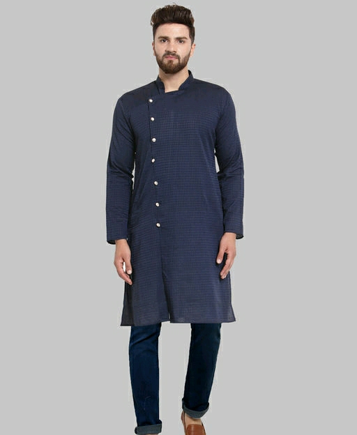 Cotton Full Sleeves Panjabi Kurta With Pyjama
