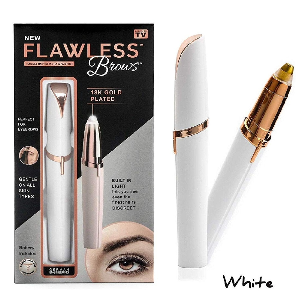 Sams Flawless Epilator Brow Eyebrow Kit White 100 g
