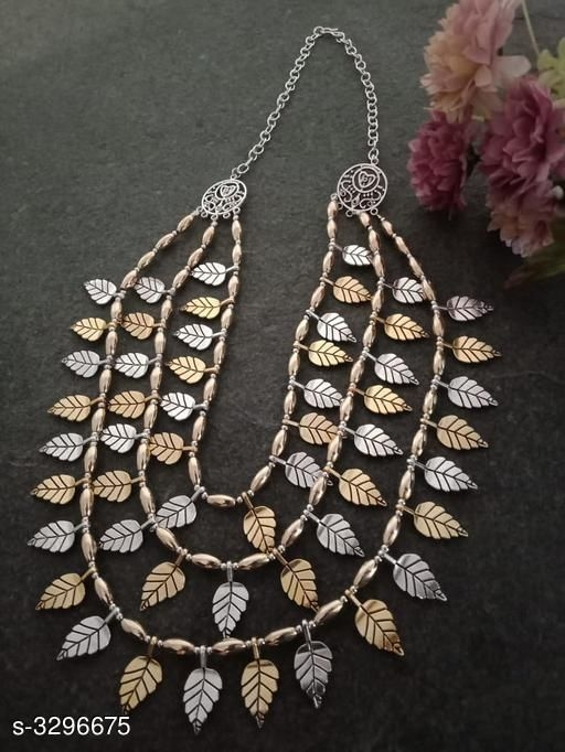 Embellished work Free Size Alloy Necklace Material