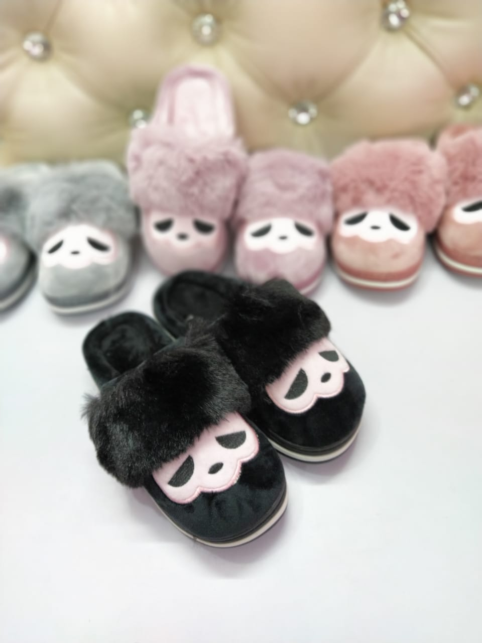 Panda Style Slippers for Womens