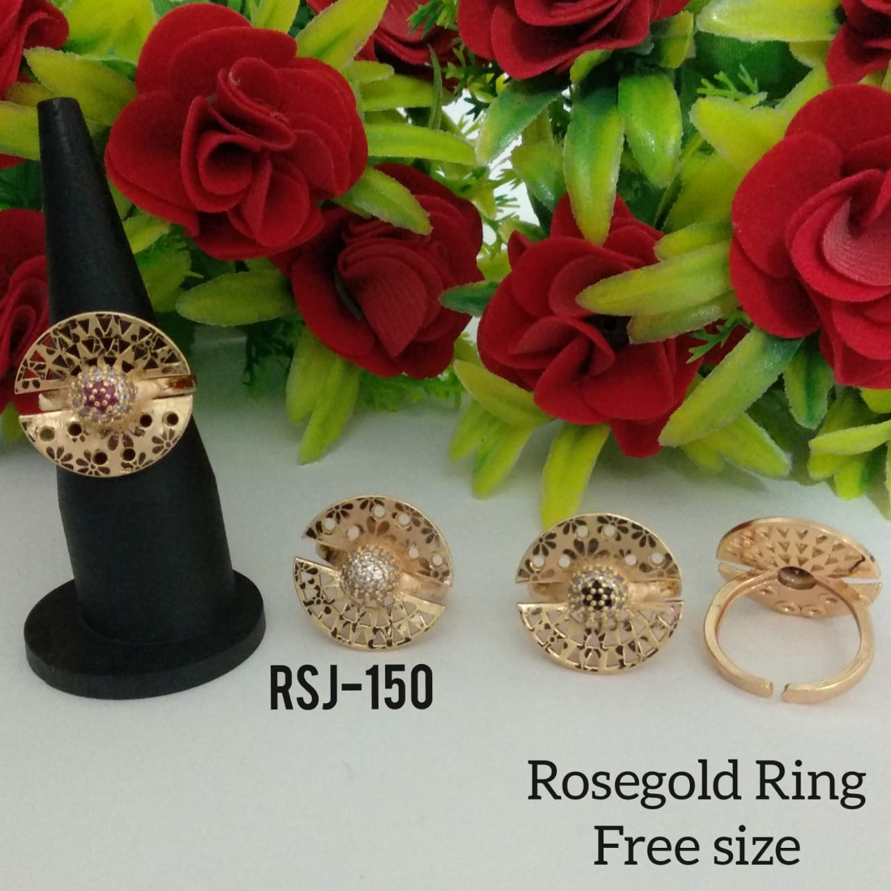RoseGold Ring Free Size