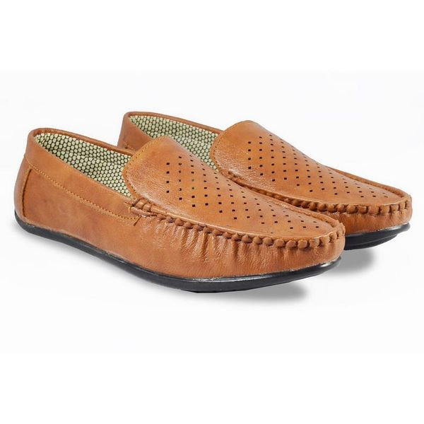 Half Dotted Men Synthetic Leather Loafer