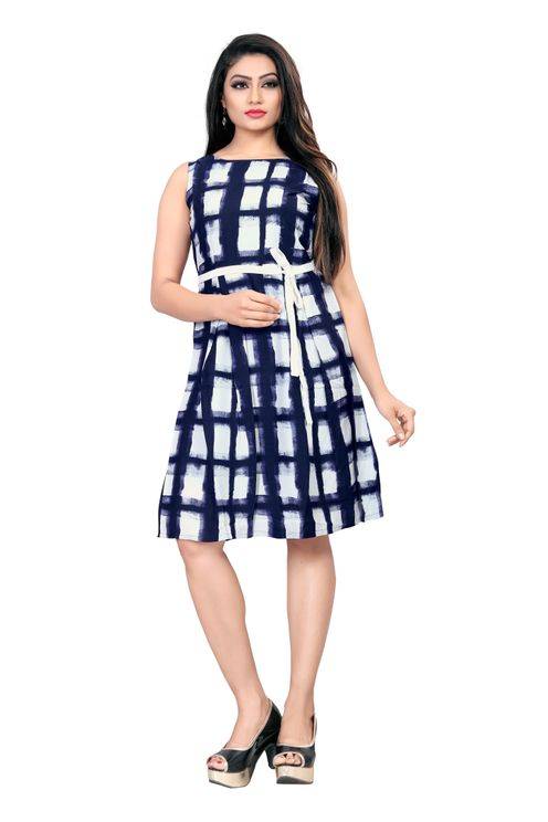 American-Crepe-Fit-And-Flare-Dress-Blue-and-White-Color1.jpg