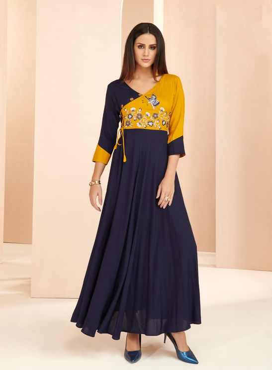Rayo- Embroiders-Fancy-Pattern-V-Neck-Kurti-Blue-Yellow-Color1.jpg
