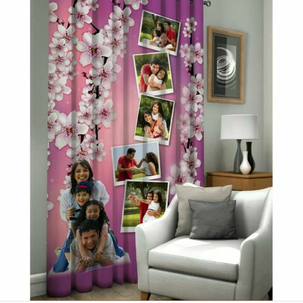Digital Print Customised Curtains For Home