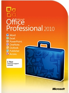 MICROSOFT OFFICE PROFESSIONAL 2010 SEALED BOX PACK