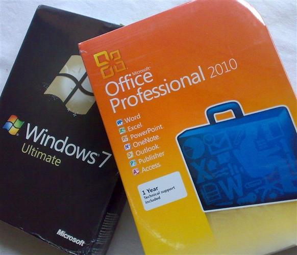 WINDOWS 7 ULTIMATE AND MICROSOFT OFFICE PROFESSIONAL 2010 (BOTH SEALED BOX)